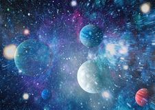 Galaxy and Nebula. Abstract space background. Elements of this Image Furnished by NASA. Futuristic abstract space background. Night sky with stars and nebula stock photo