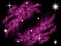 Galaxy nebula. In black starry background Royalty Free Stock Image