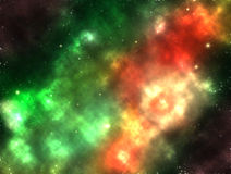 Galaxy nebula shining stars gas cloud. Galaxy outer space nebula shining stars and gas clouds illustration art design Stock Photo