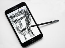 Galaxy Note N7000 Royalty Free Stock Photography
