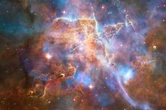 Galaxy in outer space, beauty of universe. Elements of this image furnished by NASA.  stock photo