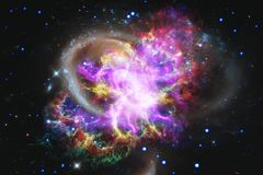 Galaxy in outer space, beauty of universe royalty free stock photography