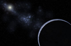 Galaxy planet background Stock Images