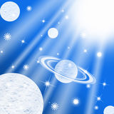 Galaxy planet Stock Images