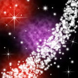 Galaxy planet. S in black starry background Royalty Free Stock Photo