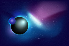 Galaxy. Planet and Galaxy Shine in the space. Colourful Background Royalty Free Stock Photography