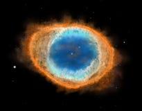 Galaxy : Ring Nebula M57 vector illustration