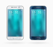 Galaxy S6 Edge. Samsung Galaxy S6 Edge isolated on white background royalty free illustration