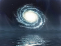 Galaxy sea Stock Image