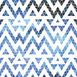 Galaxy seamless pattern. Galaxy seamless pattern with triangles and geometric shapes. Vector trendy illustration Stock Photo