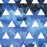 Galaxy seamless pattern. Stock Photography