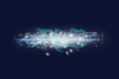 Galaxy. Shine in the space. Blue Background Stock Image