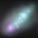 Galaxy. Shine in the space. Metal background Royalty Free Stock Photos