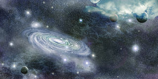 Galaxy in space and planets Royalty Free Stock Photography