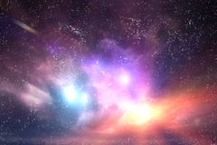 Galaxy, space sky. Stars, lights, fantasy background Royalty Free Stock Photos