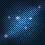 Galaxy sparkly blue background Royalty Free Stock Image