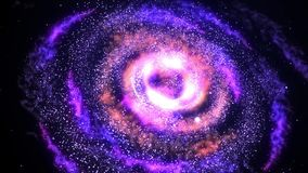 Galaxy spinning in the open space.