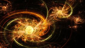 galaxy spiral 远的空间 扭转磁场 图库摄影