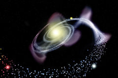 Galaxy spiral Royalty Free Stock Photo