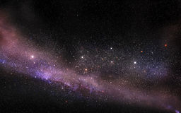 Galaxy starfield. Galaxy with bright stars Royalty Free Stock Photo