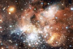 Galaxy, starfield, nebulae, cluster of stars in deep space. Science fiction art. Elements of this image furnished by NASA stock images