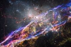 Galaxy, starfield, nebulae, cluster of stars in deep space. Science fiction art. Elements of this image furnished by NASA stock image