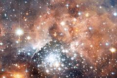 Galaxy, starfield, nebulae, cluster of stars in deep space. Science fiction art royalty free illustration