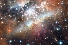 Galaxy, starfield, nebulae, cluster of stars in deep space. Science fiction art royalty free stock photo