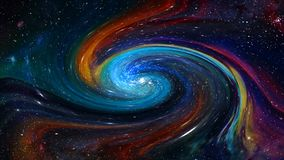 Galaxy and stars illustration Stock Photos