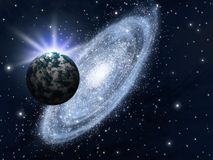 Galaxy, stars and planet Royalty Free Stock Photography