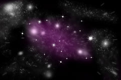 Galaxy and stars in space Stock Images