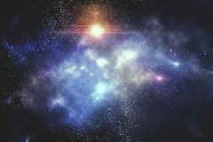 Galaxy with stars. And space, close up Stock Photography