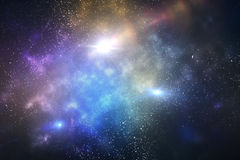 Galaxy with stars. And space, close up Royalty Free Stock Photos