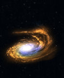 Galaxy with tilt-shift effect. Royalty Free Stock Images
