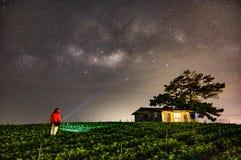 Galaxys et manière laiteuse Image libre de droits