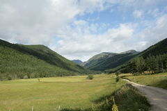 Galbe valley in Pyrenees Royalty Free Stock Photos