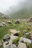 Galbe valley in  Pyrenees orientales,  France Royalty Free Stock Image