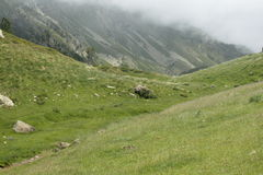Galbe valley in  Pyrenees orientales,  France Royalty Free Stock Photos