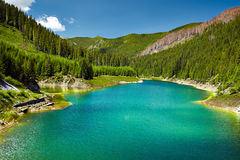 Galbenu lake in Parang mountains Stock Photo