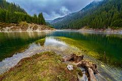 Galbenu lake in Romania Stock Photo