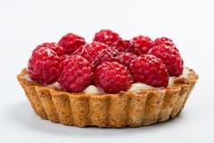 Galdéria caseiro fresca do fruto com a framboesa na tabela branca Fotografia de Stock Royalty Free