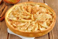 Galdéria com maçãs Foto de Stock