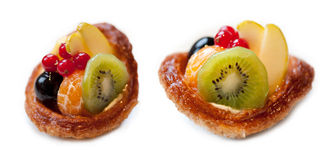 Galdéria da fruta fresca no fundo branco Imagem de Stock