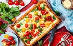 Galdéria da massa folhada do tomate fotografia de stock