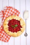 Galdéria da pastelaria com ameixas Foto de Stock Royalty Free