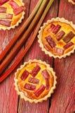 Galdéria de creme do Rhubarb & do aç6frão Fotografia de Stock Royalty Free