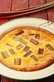 Galdéria de creme do Rhubarb & do aç6frão Imagens de Stock Royalty Free