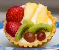 Galdéria do creme de leite e ovos com fruta Imagens de Stock