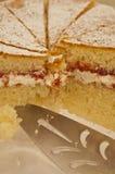 Galdéria do doce e do creme de morango imagem de stock