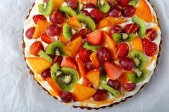 Galdéria do fruto com queijo creme, close-up Imagens de Stock